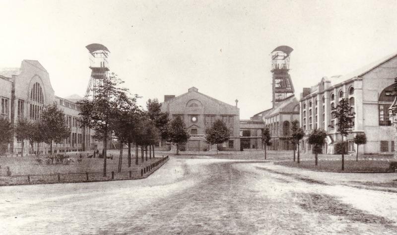 Fürst-Leopold-Platz damals (Bergwerk Fürst Leopold)